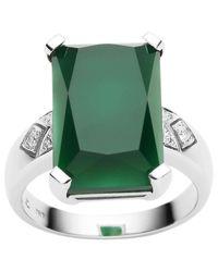 Jan Logan | 18ct Green Onyx Diamond Lexington Ring | Lyst