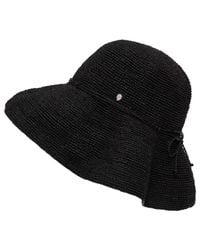 "Helen Kaminski   Black Provence 12"" Raffia Hat   Lyst"