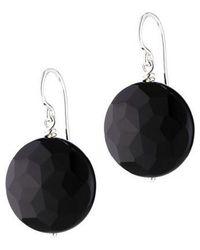 Jan Logan | Sterling Silver Flat Black Agate Earrings | Lyst