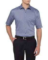 Van Heusen   Blue Classic Fit Short Sleeve Shirt for Men   Lyst