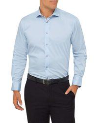 Calvin Klein   Blue Slim Fit Cotton Spandex Business Shirt for Men   Lyst