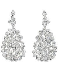Jan Logan - Metallic 18ct Diamond Barcelona Earrings - Lyst