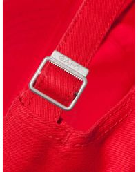 Gant - Red Contrast Twill Cap for Men - Lyst