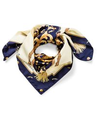Aspinal - Blue Signature Scarf - Lyst