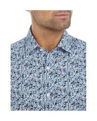 Richard James - Blue Floral Print Shirt for Men - Lyst
