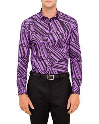 Versace | Purple Frame Print Shirt for Men | Lyst