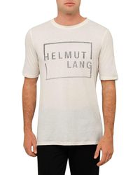 Helmut Lang | Multicolor Sq Logo Ss T Shirt for Men | Lyst