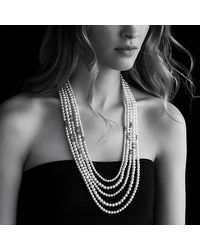 David Yurman | White Starburst Pearl Multi-row Necklace With Diamonds | Lyst