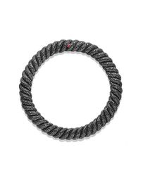 David Yurman - Hampton Cable Necklace With Ruby And Black Diamonds - Lyst
