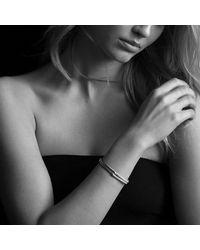 David Yurman - Metallic Labyrinth Single-loop Bracelet With Diamonds In 18k Gold, 8mm - Lyst