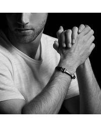 David Yurman - Anvil Narrow Black Leather Id Bracelet With Bronze, 6.5mm - Lyst