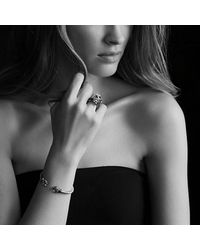 David Yurman - Cable Wrap Bracelet With Black Onyx And Diamonds In 18k Gold - Lyst