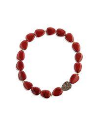 David Yurman - Delta Bead Necklace With Red/poppy Jasper, Orange And Yellow Sapphire - Lyst