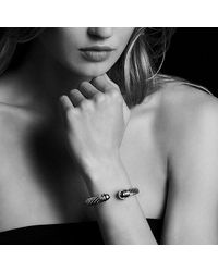 David Yurman - Metallic Cable Classics Bracelet With 14k Gold, 10mm - Lyst