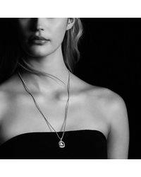 David Yurman - Metallic Albion Pendant With Black Onyx And Diamonds In 18k Gold, 11mm - Lyst