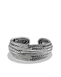 David Yurman - Metallic Labyrinth Triple-loop Cuff Bracelet Bracelet With Diamonds, 28mm - Lyst