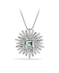 David Yurman - Green Starburst Pendant Necklace With Prasiolite And Diamonds, 38mm - Lyst