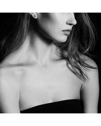 David Yurman - Metallic Crossover Earrings With Diamonds In 18k Gold - Lyst