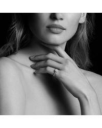 David Yurman - Pink Petite Pavé Ring With Diamonds In 18k Rose Gold - Lyst