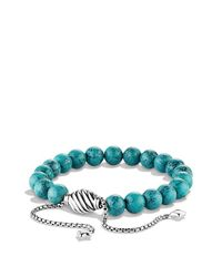 David Yurman | Blue Spiritual Beads Bracelet With Turquoise | Lyst