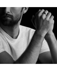 David Yurman - Chevron Pavé Band Ring With Black Diamonds for Men - Lyst