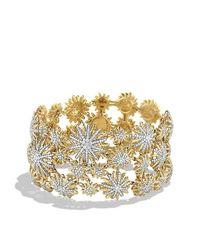 David Yurman - Metallic Starburst Mosaic Bracelet With Diamonds In 18k Gold - Lyst
