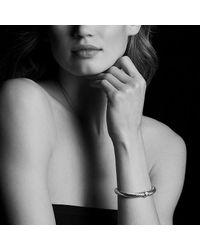 David Yurman - Metallic Cable Classics Bracelet With Diamonds In 18k Gold, 7mm - Lyst