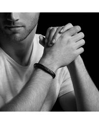 David Yurman - Maritime Leather Woven Shackle Bracelet In Brown - Lyst