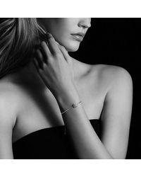 David Yurman - Metallic Petite Pave Bracelet With Blue Sapphire - Lyst