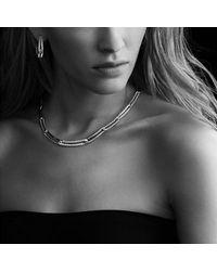David Yurman - Metallic Labyrinth Hoop Earrings With Diamonds - Lyst