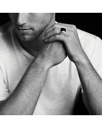 David Yurman - Metallic Exotic Stone Signet Ring With Malachite for Men - Lyst