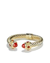 David Yurman - Metallic Renaissance Bracelet With Carnelian And Madiera Citrine In 18k Gold, 10mm - Lyst