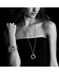 David Yurman - Metallic Cable Classic Buckle Bracelet With Diamonds And 18k Gold, 7mm - Lyst