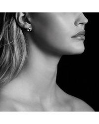 David Yurman - Metallic Châtelaine® Earrings With Garnet In 18k Gold, 8mm - Lyst