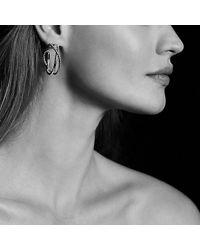 David Yurman - Metallic Crossover Hoop Earrings - Lyst