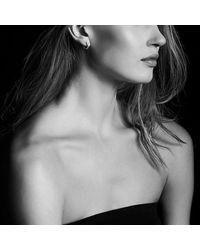 David Yurman - Stax Medium Chain Link Hoop Earrings With Diamonds In 18k White Gold - Lyst