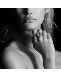 David Yurman - Pink Starburst Ring With Diamonds And Morganite In 18k Rose Gold, 25mm - Lyst