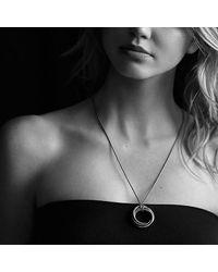 David Yurman | Metallic Crossover Pendant Necklace With 14k Gold | Lyst