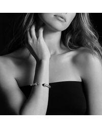David Yurman - Metallic Cable Classic Crossover Bracelet With Black Onyx And Diamonds, 7mm - Lyst
