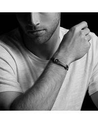 David Yurman - Maritime Rubber Reef Knot Id Bracelet In Blue for Men - Lyst