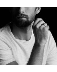 David Yurman - Dy Delaunay Band Ring In Gray Titanium, 7.5mm for Men - Lyst