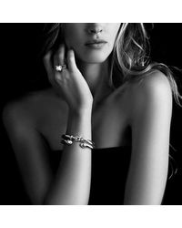 David Yurman - White Cable Classics Bracelet With Pearls And Diamonds In 18k Gold, 7mm - Lyst