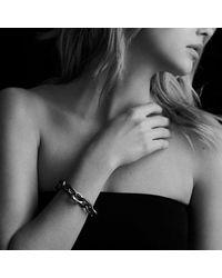 David Yurman - Metallic Extra-large Oval Link Bracelet With 18k Gold - Lyst