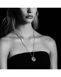 David Yurman - Starburst Pendant Necklace With Hampton Blue Topaz And Diamonds, 30mm - Lyst