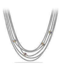 David Yurman - Metallic Renaissance Toursade Necklace With Citrine, Rhodalite Garnet And 18k Gold - Lyst