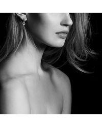 David Yurman - Metallic Continuance Small Drop Earrings With Diamonds In 18k Rose Gold - Lyst