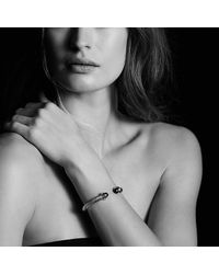 David Yurman | Blue Bracelet With Smoky Quartz And 14k Gold, 7mm | Lyst