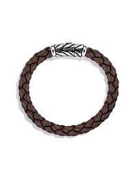 David Yurman - Black Chevron Rubber Weave Bracelet In Brown, 8mm for Men - Lyst