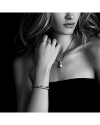 David Yurman - Metallic Crossover Bracelet With Diamonds In 18k Rose Gold - Lyst