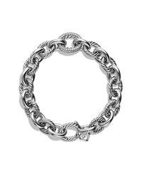 David Yurman | Metallic Oval Large Link Bracelet With Diamonds, 15mm | Lyst